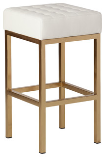 Jezebel Champagne Gold Stool White Counter Height