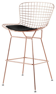 Wireback Bar Stool Rose Gold Black