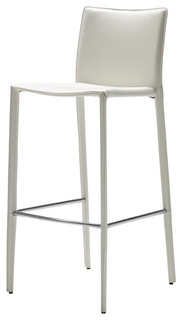 Zak Bar Stools White Not Padded Set of 2