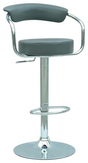 Chintaly Pneumatic Gas Lift Adjustable Height Swivel Stool Dark Grey