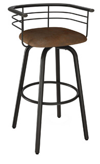 Turbo Swivel Metal Stool Counter Height