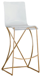 Gabby Johnson Acrylic Bar Stool Gold
