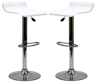 Gloria Bar Stools Set of 2 White