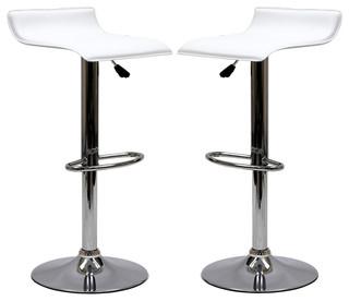Gloria Bar Stools Set of 2 White