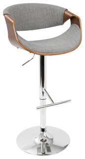 Lydia Midcentury Adjustable Bar Stool