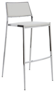 Aaron Vinyl Stool White Bar Height