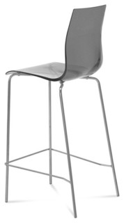 Domitalia Gel Sga Stool in Transparent Smoke