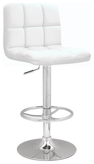 Stitched Seat and Back Pneumatic Gas Lift Adjustable Height Swivel Stool 0394 AS