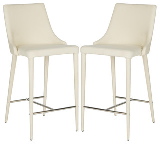 Safavieh Summerset Counter Stools Set of 1 Linen Beige