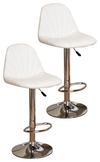 Lincoln Adjustable Bar Stools Set of 2 White