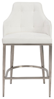 Viby Stainless Steel Bar Stool White