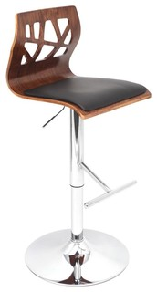 Folia Bar Stool Walnut and Black