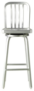 Aluminum Bar Stool Brushed Aluminum Swivel