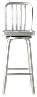 Aluminum Bar Stool Brushed Aluminum Swivel