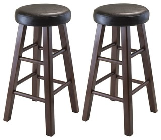 Winsome Wood Marta Antique Walnut Transitional Stools 94026