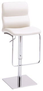 Intel Swivel Hydraulic Barstool White