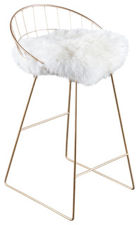 Kylie Sheepskin Bar Chair 33 quot