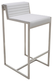 Zola Leather Counter Stool White