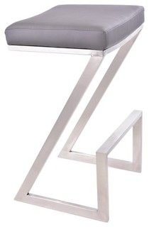 Atlantis Backless Barstool Gray 26
