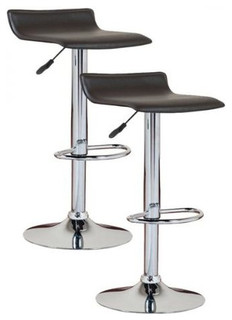 Leick Adjustable Height Swivel Stools Set of 2 Black