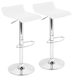 Ale Bar Stools Set of 2 White