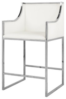 Worlds Away Hazel Counterstool White