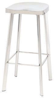 Icon Bar Stool Polished Silver