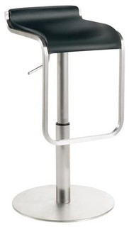 Adjustable Barstool in Black
