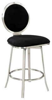 Upholstered Round Back Memory Swivel Counter Stool 0459 CS