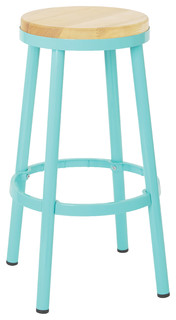 Bristow Metal Backless Barstool Mint 30 quot