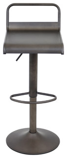 Adjustable Height Swivel Bar Stool With Comfortable Sitting Antique