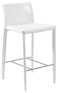 Shen Counter Stools Set of 2 White Chrome