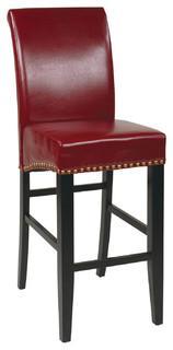 Boleyn Upholstered Parsons Bar Stool Crimson