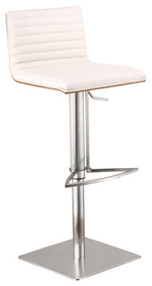 Cafe Adjustable Barstool White