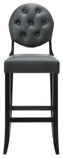 Button Barstool Black