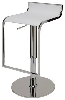 Alexander Adjustable Leather Stool White