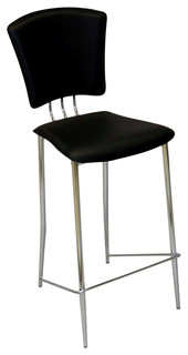 Counter Height Stools Set of 2 TRACY CS BLK