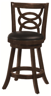 24 quot Swivel Bar Stools Cappuccino Set of 2