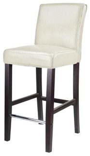 CorLiving Antonio 31 quot Bonded Leather Bar Stool in White