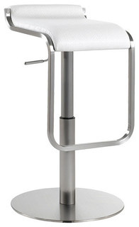 Adora Leather Adjustable Bar Counter Stool White