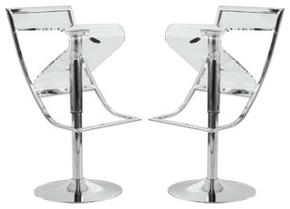 Napoli Bar Stools Set of 2 Transparent Acrylic