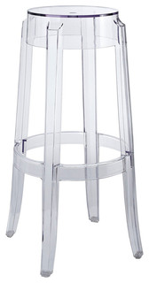 Modway Furniture Casper Bar Stool Clear