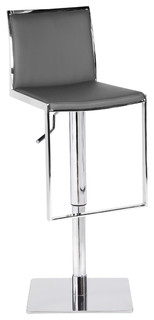 Capri Bar Stool Italian Leather Gray