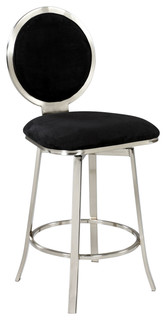 Upholstered Round Back Memory Swivel Bar Stool 0459 BS