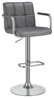 Coaster Adjustable Bar Stool Gray