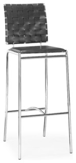 Criss Cross Bar Chairs Black Set of 2