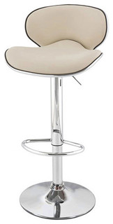 Kappa Contemporary Adjustable Bar Stools Cafe Latte Set of 2