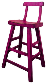 Hong Design Colored Distressed Bar Stool With Back Chair 43 3 quot
