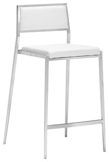Dolemite Counter Stool Set of Two White Set of 2