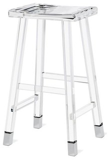 Reva Lucite Bar Stool Nickel